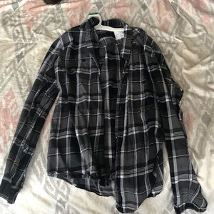 A black flannel.